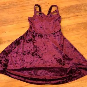 Forever 21 Velvet Burgundy Dress
